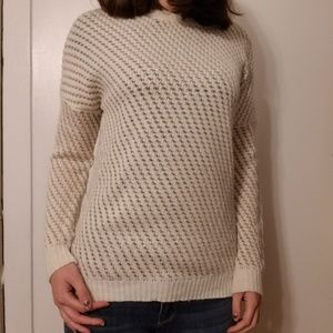 Gold and cream knit sweater